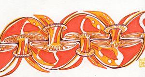 Mushroom illusion in sepia - John Correia