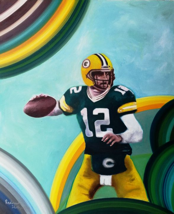 Number 12, Green Bay, Wisconsin team - My Art for Kids