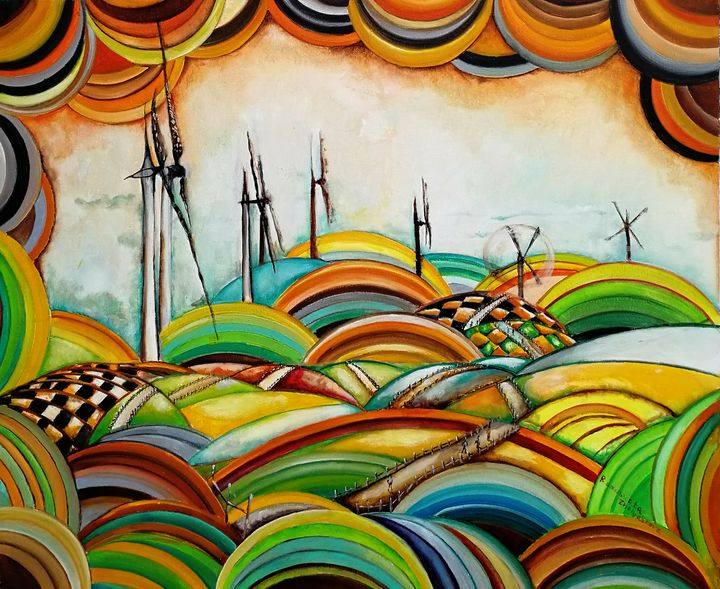 """Il Camino de Santiago - Windmills"" - Radosveta Zhelyazkova"