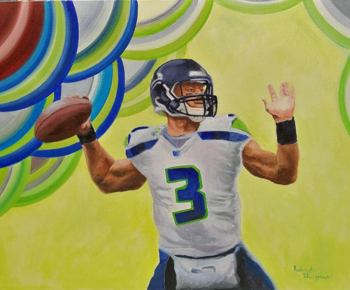 Number 3, Seattle Football Team - My Art for Kids