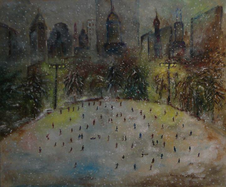 Winter slide in NYC - Radosveta Zhelyazkova