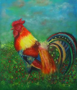 Fire rooster-SOLD