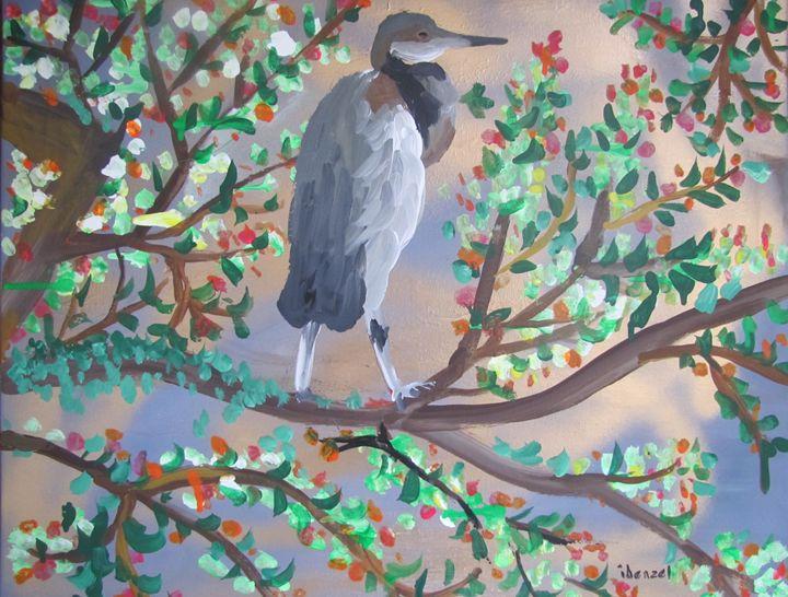 34. Heron In Tree - ibenzel
