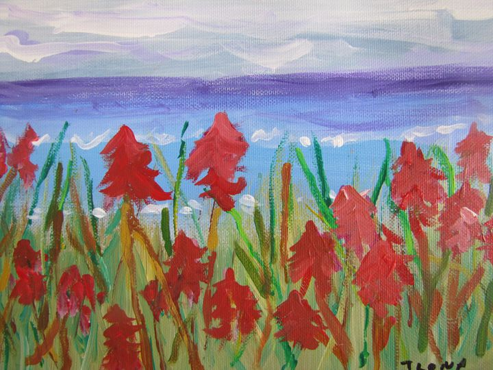11. Red Dune Flowers - ibenzel