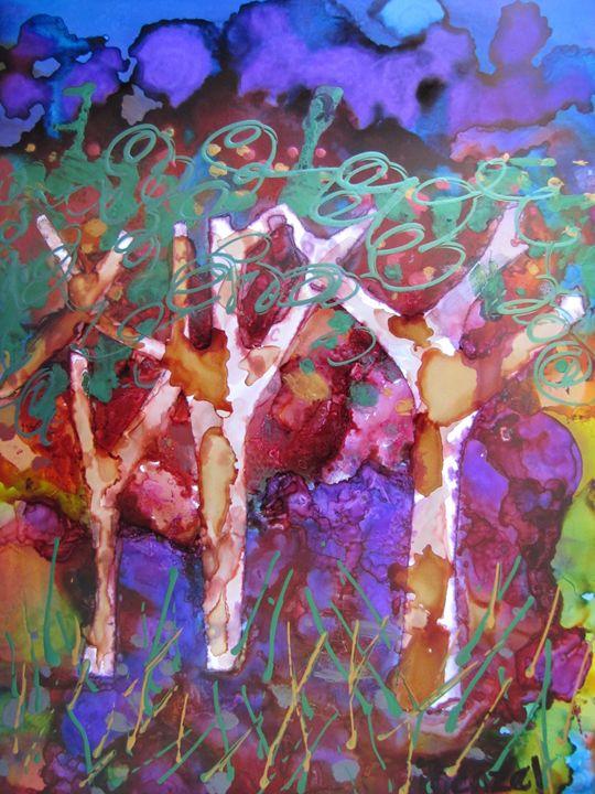 73. Ink Art Tree - ibenzel