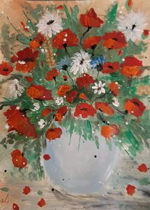 Field flowers in a vase