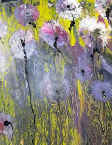 Mauve Abstract Flowers