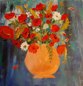 Field Flowers in a Vase - HafnerDekoArt