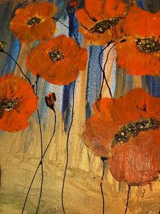 Red Poppies on a Field - HafnerDekoArt