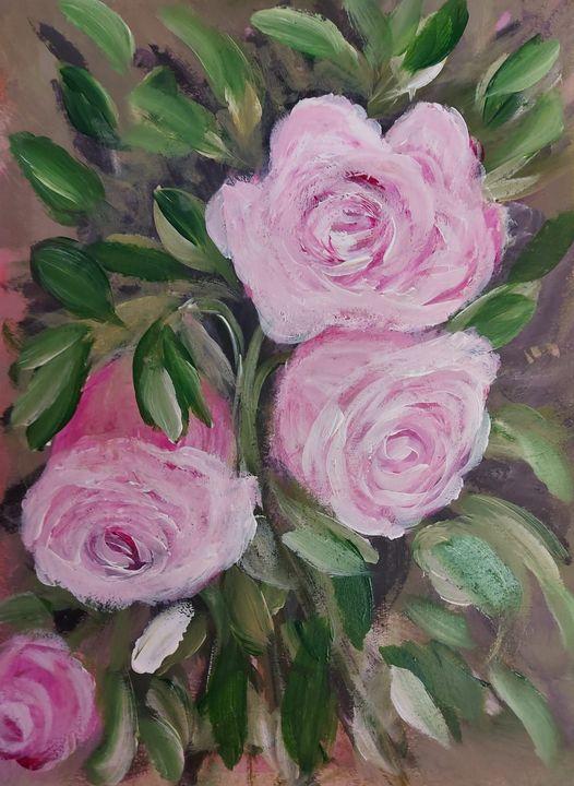 Pink Roses - HafnerDekoArt