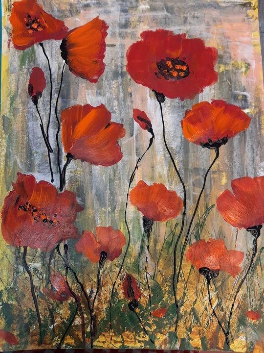 Poppies on a field - HafnerDekoArt