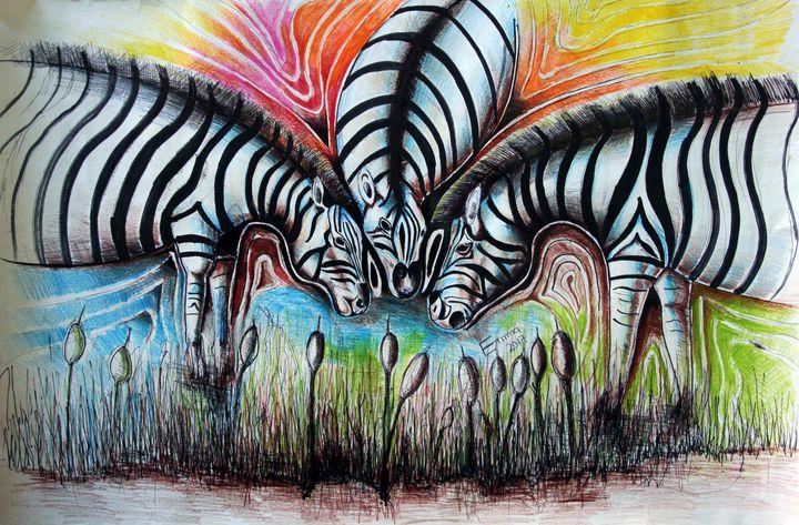African Zebras - Emmanuel Ogwang