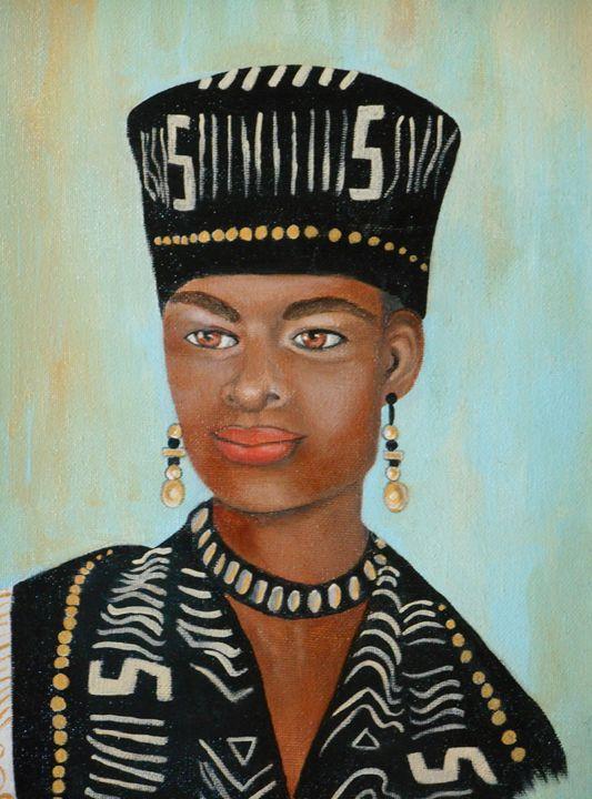 Chieftains Daughter - La Marr Kramer's Fine Art Gallery