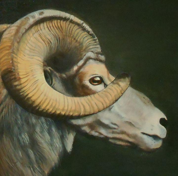 Mr. Big Horn - La Marr Kramer's Fine Art Gallery