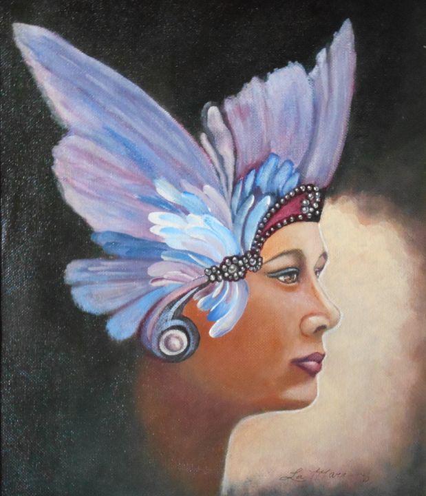 Butterfly Lady - La Marr Kramer's Fine Art Gallery