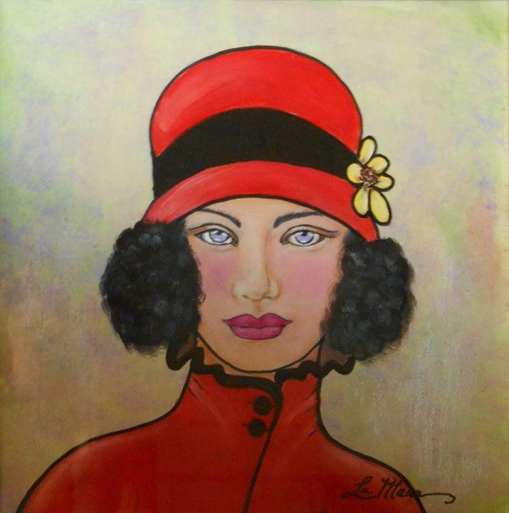 Lady with the Red Hat - La Marr Kramer's Fine Art Gallery