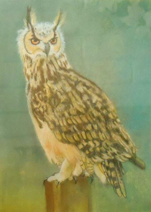 Horned Owl - La Marr Kramer's Fine Art Gallery