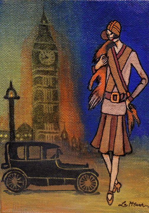 Lady in London - La Marr Kramer's Fine Art Gallery
