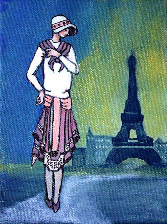 Lady in Paris - La Marr Kramer's Fine Art Gallery