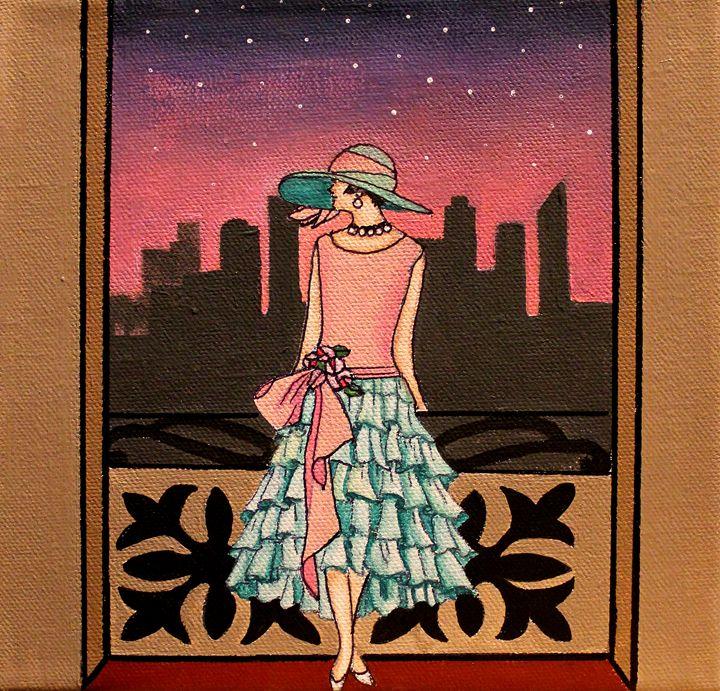 Lady in the City - La Marr Kramer's Fine Art Gallery