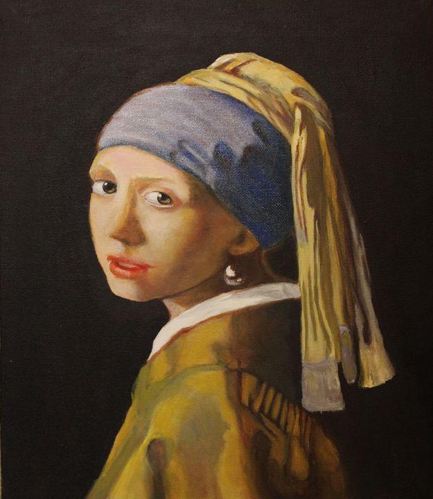 Lady with the Pearl Earring - La Marr Kramer's Fine Art Gallery