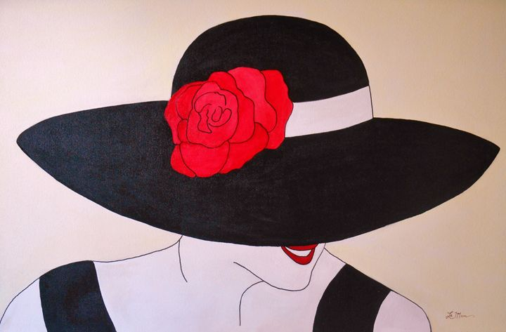 Lady with the Black Hat - La Marr Kramer's Fine Art Gallery