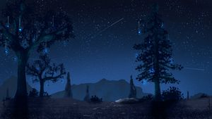 Fictionnal Night Forest