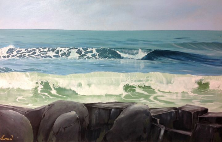 Breaking waves - Luna jovanovic art
