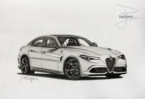Alfa Romeo Giulia A3 car drawing