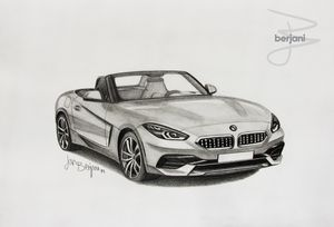 BMW Z4 2019 pencil car drawing