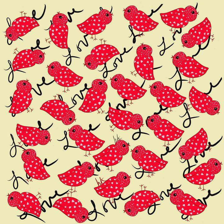 Valentine Fantasy Birdie Love - hkOriginals