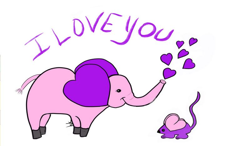 """""""I Love You"""", Said the Elephant - hkOriginals"""