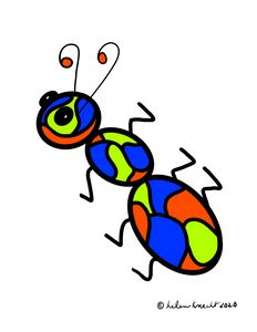 Colorful Stained Glass-Looking Ant