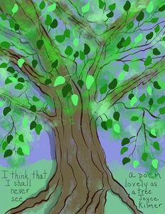 Lovely Tree and Joyce Kilmer Poem