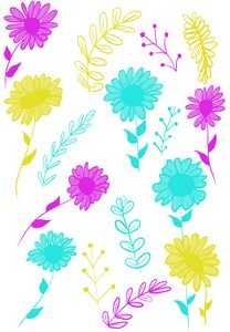 Whimsical Summery Botanicals