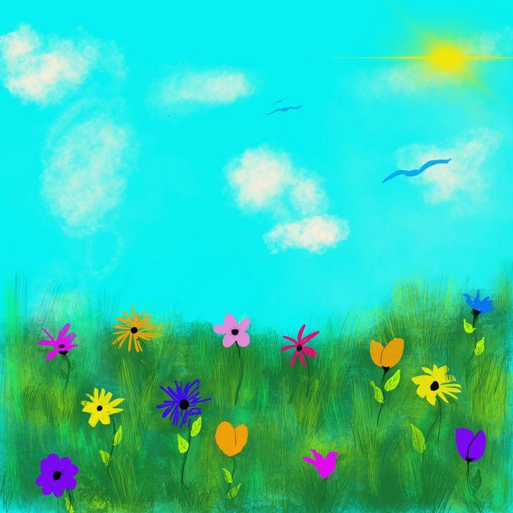 Spring Field of Flowers - hkOriginals