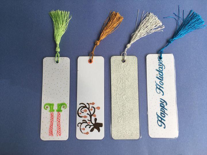 Embossed Christmas Bookmarks (4) - hkOriginals