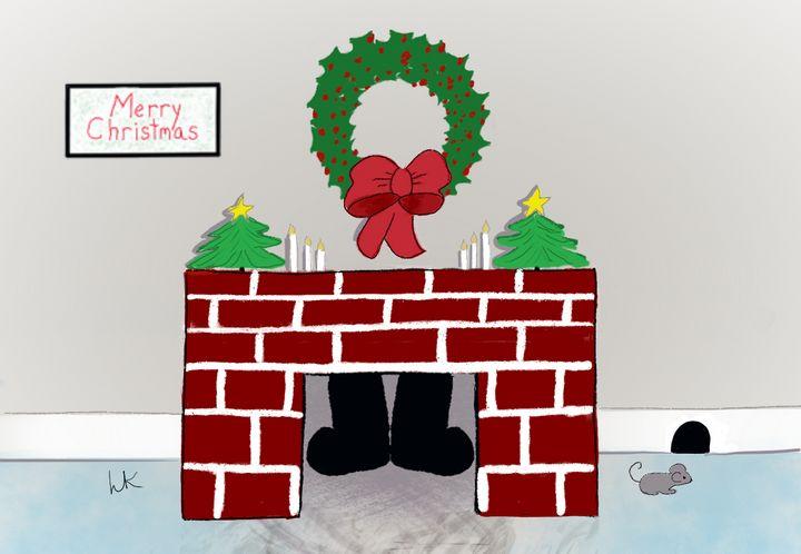 Santa Claus Down the Chimney - hkOriginals