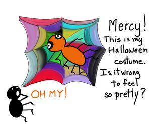 Spider's Shocking Halloween Costume
