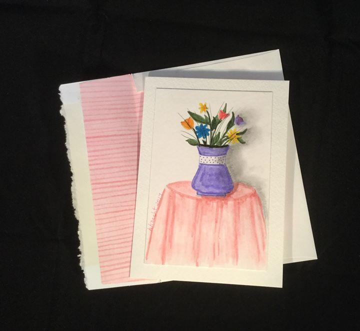 Blank Watercolor and Marker Card - hkOriginals