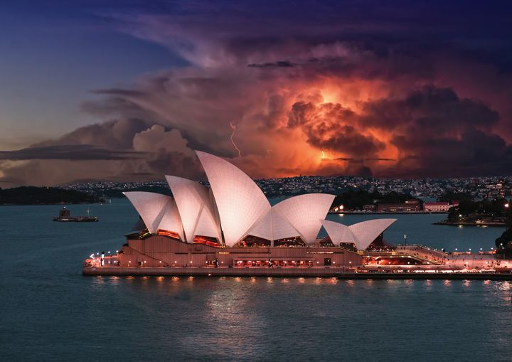 Storm Over Opera House  Fine Art - Friends Always Giftshop