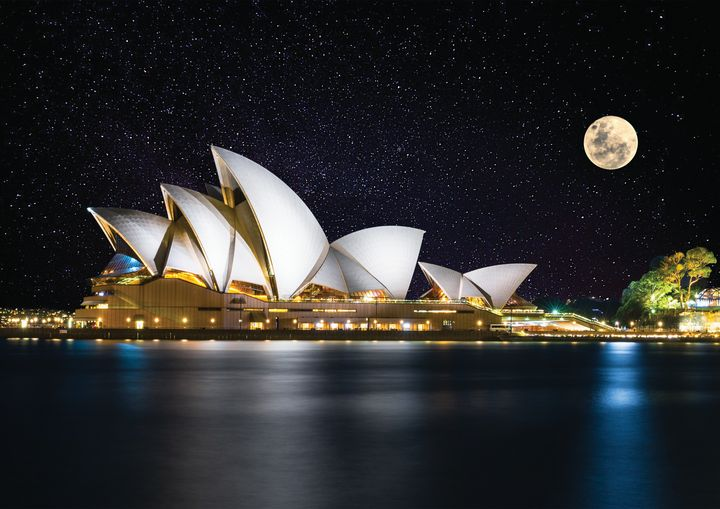 Stars and Moon Over Opera House Fine - Friends Always Giftshop