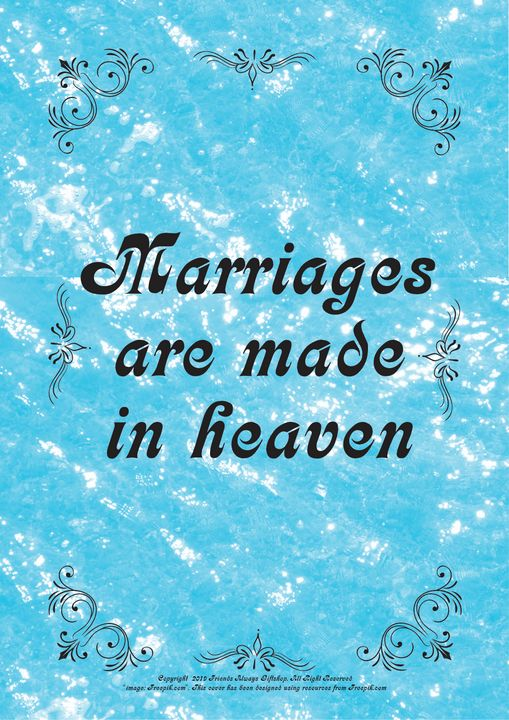 245B Marriages are made in heaven - Friends Always Giftshop