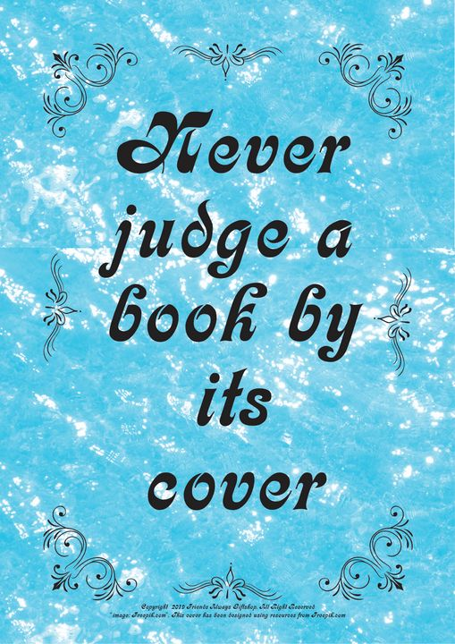 265 Never judge a book by its cover - Friends Always Giftshop