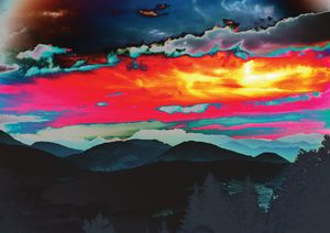 Red Sky Over Mountains Fine Art