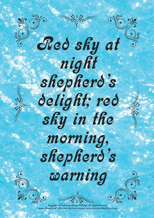 313 Red sky at night shepherd's - Friends Always Giftshop