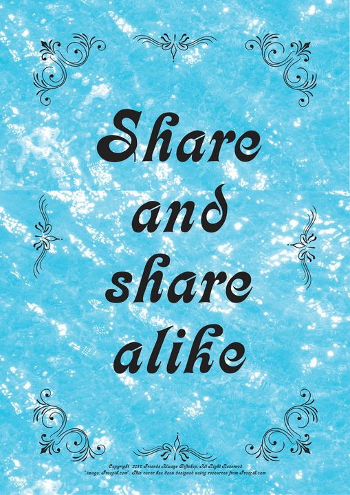322 Share and share alike - Friends Always Giftshop