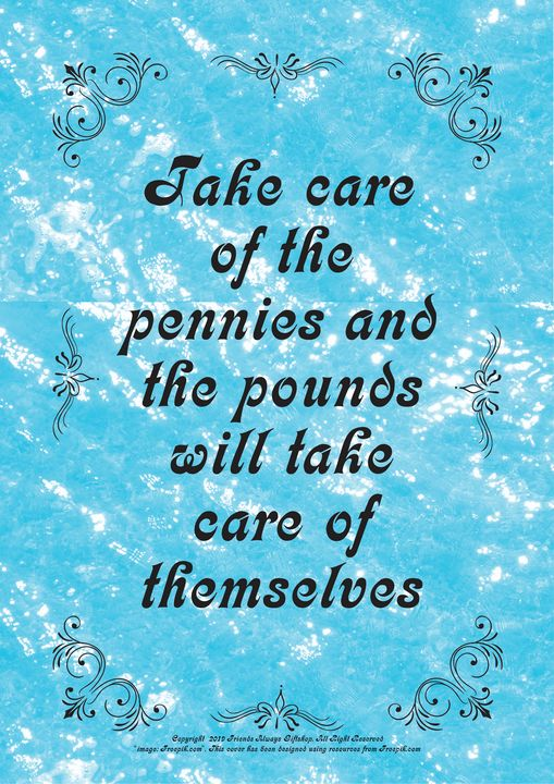 335 Take care of the pennies and the - Friends Always Giftshop