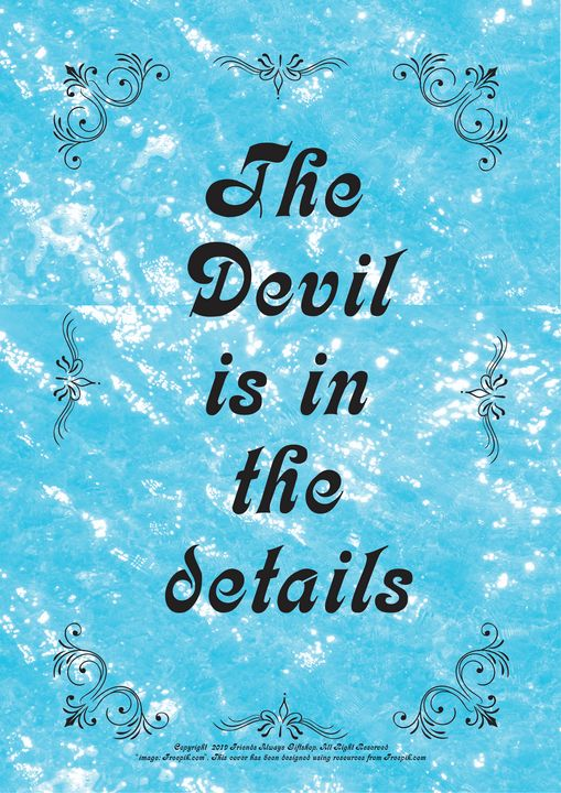 355 The Devil is in the details - Friends Always Giftshop