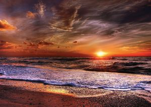 Body of Water Under Sunset Fine Art